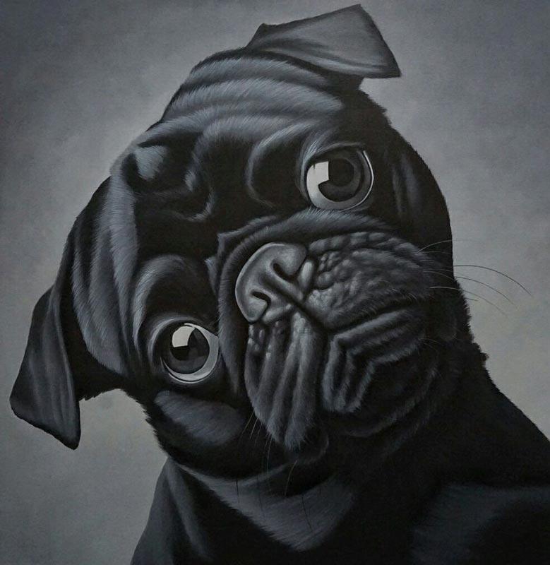 Den - Sad Dog - 100 x 100 - 12