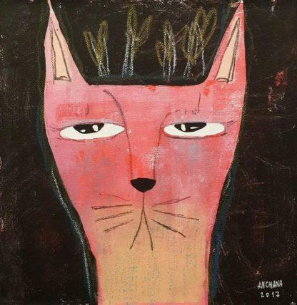 Ja - Color Cat On Black 06 - 25 x 25 - 09