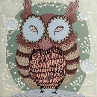 Kamontip - Owl 16 - 50 x 50 - 3-5