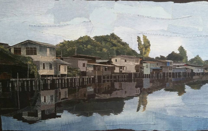 Pongsakul - Along The Riverbank - 190 x 120 - 65