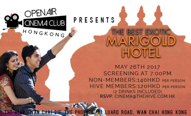 HK Open Air Cinema Club - The Best Exotic Marigold Hotel