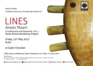 Galeri Chandan - Lines by Anees Maani