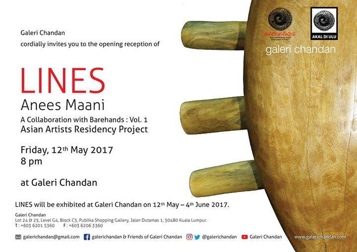 Galeri Chandan - Lines by Anees Maani