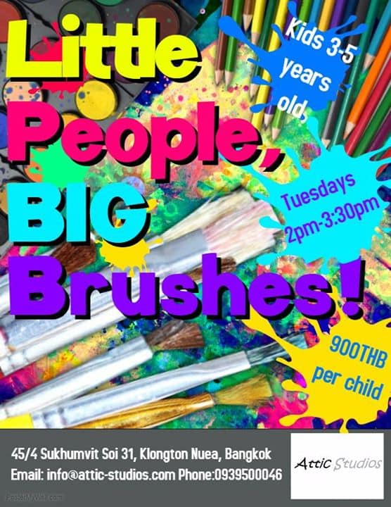 Attic Studios - Little People, BIG Brushes! - Every Tuesday