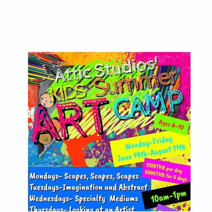 Attic Studios - Kids Summer Art Camp For ages 6-10 years