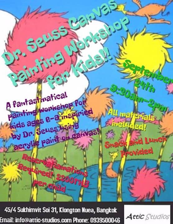 Attic Studios - Dr. Seuss Canvas Painting Workshop for kids