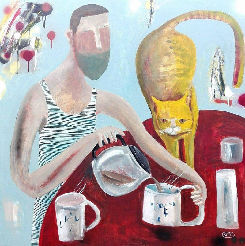 Kitti - Coffee and Cat - 80 x 80 - 6-5