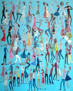 Kitti - Dancing People - 100 x 120 - 8-5