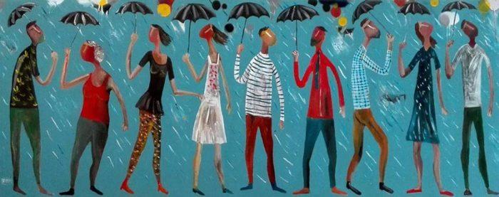 Kitti - Raining - 150 x 58 - 4-5