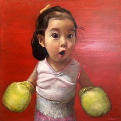 Thitithep - Boxing Girl Red - 130 x 130 - 38