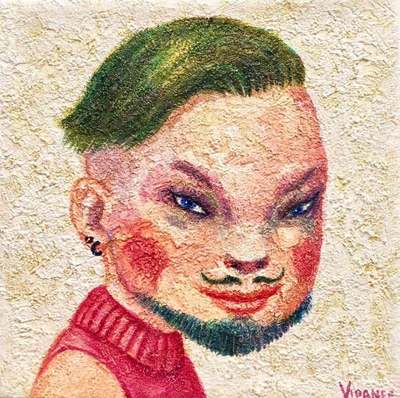 Vipanee - Small Portrait 04 - 20 x 20 - 2