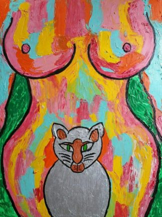 Yotaka - Women like a cat - 60 x 80 - 59