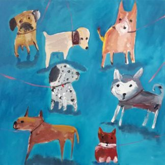 Ja - Dogs 02 - 40 x 40 - 1-2