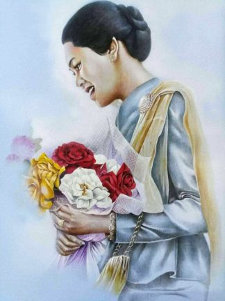 Yun - Flowers of Th Mother - 50 x 60 - 9-9