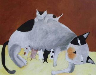 Ja - Mother Cat - 100 x 80 - 8