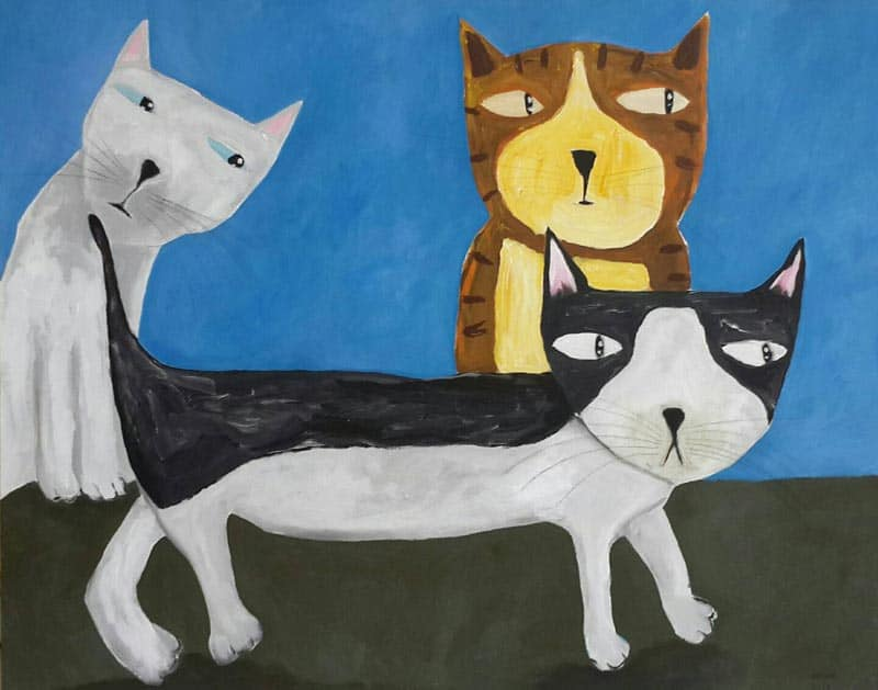 Ja - The Cats - 100 x 80 - 8