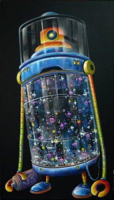 Num - Grafitti Robot - 36 x 60 - 5-5