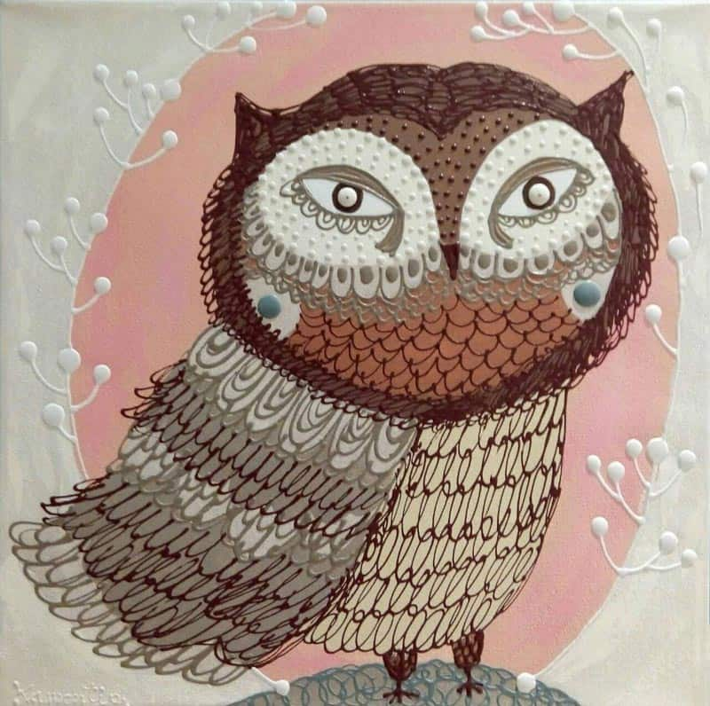 Kamontip - Owl 18 - 50 x 50 - 3