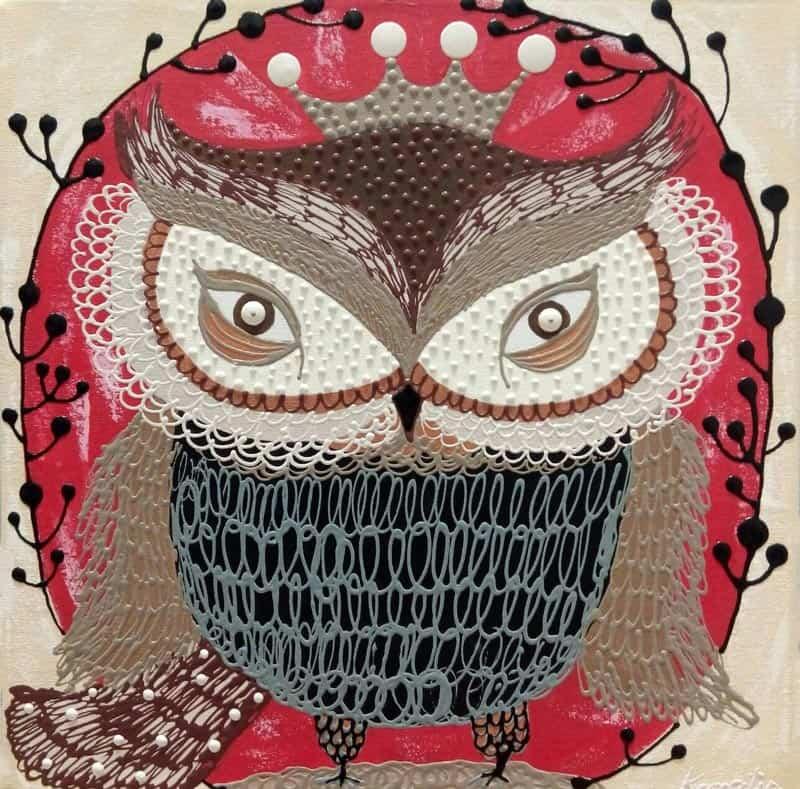 Kamontip - Owl 19 - 50 x 50 - 3