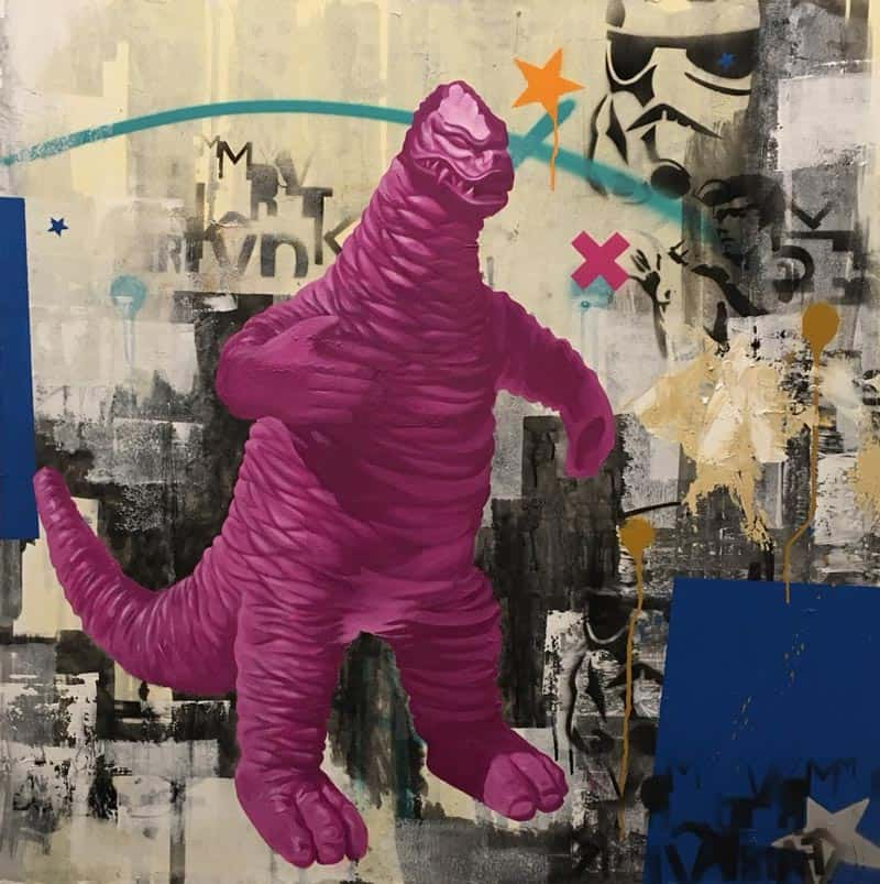 SOS - Godzilla - 100 x 100 - 20