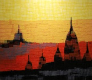 Tanarug - Collage Fabric Scenery 08 - 150 X 130 - 30