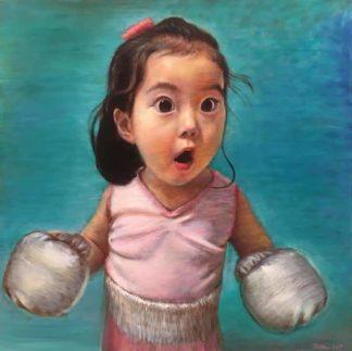 Thitithep - Boxing Girl Viridian - 130 x 130 - 38