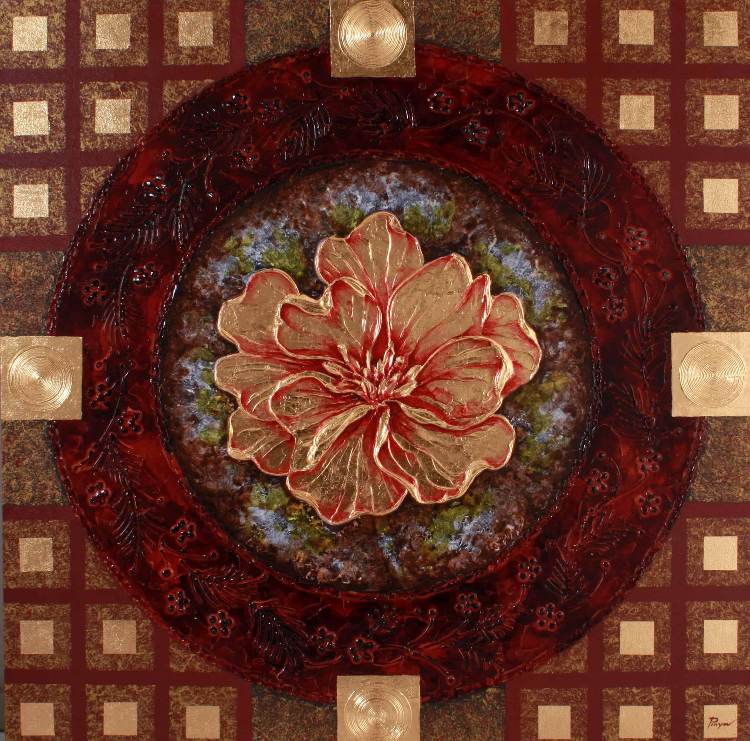 Pinya - Flowers Painting Lotus - 09 - 12
