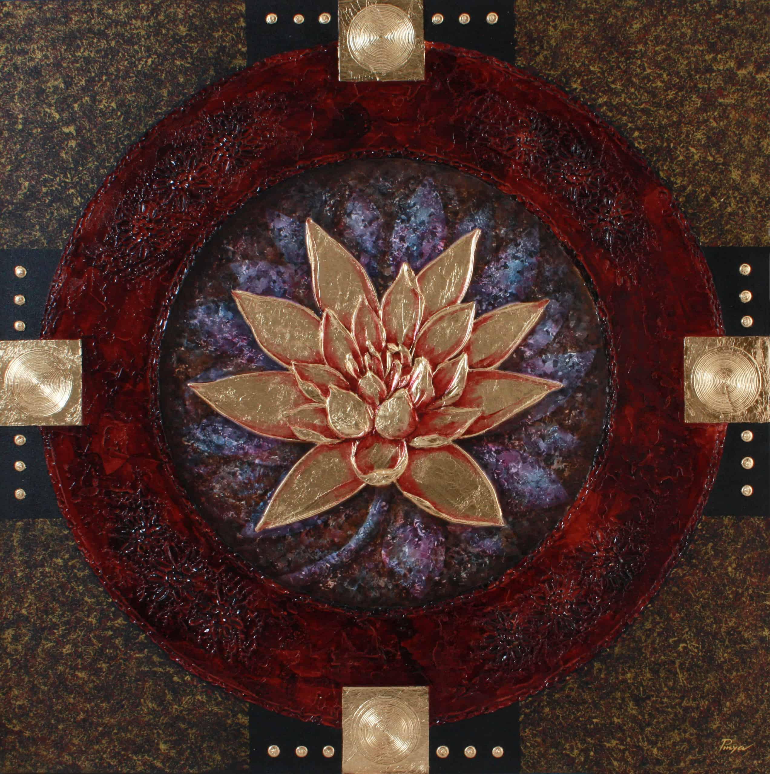 Pinya - Flowers Painting Lotus - 17 - 12