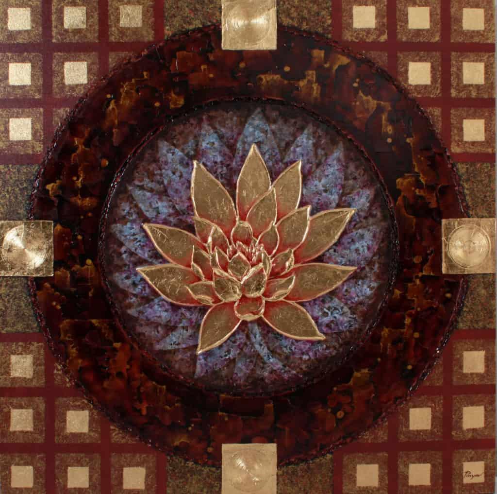 Pinya - Flowers Painting Lotus - 20 - 12