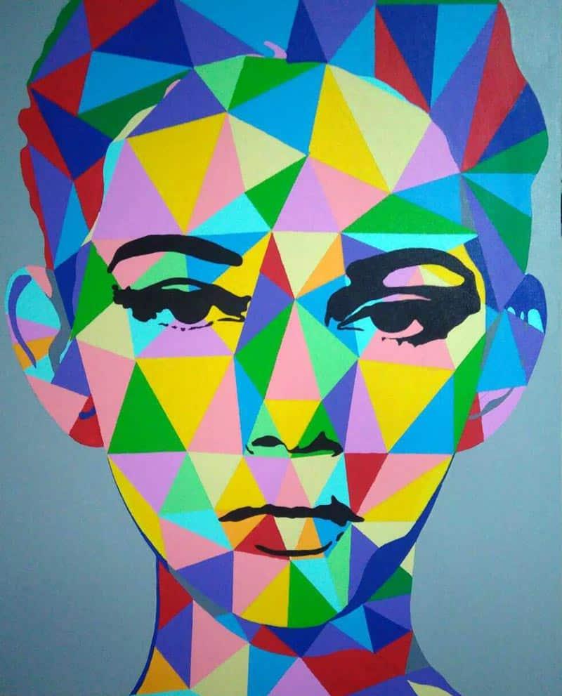 Tanawat - Abstract Portrait 01 - 80 x 100 - 8