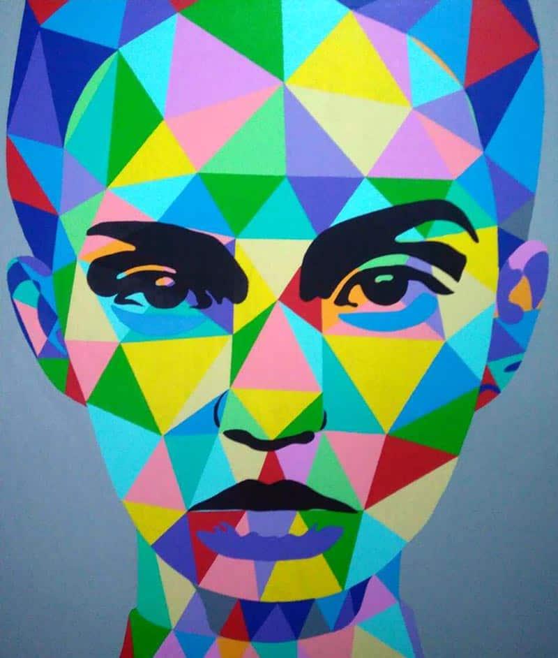 Tanawat - Abstract Portrait 02 - 120 x 140 - 15