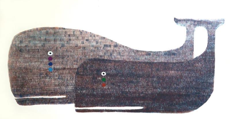 Yuwana - Double Whale - 93 x 64 - 14-5