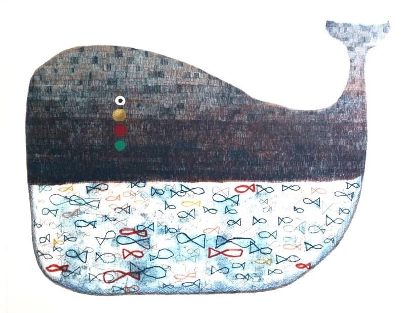 Yuwana - Whale 02 - 85 x 75 - 14-5
