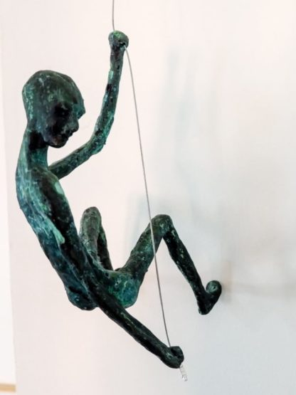 mountain climbers sculpture brass - 095