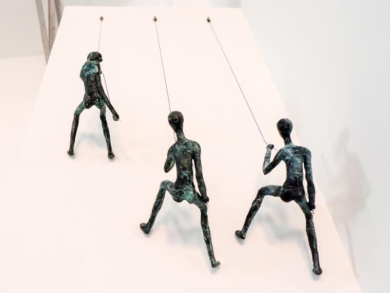 mountain climbers sculpture brass - 117
