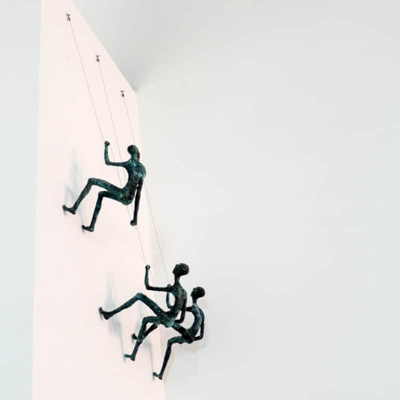 mountain climbers sculpture brass - 127