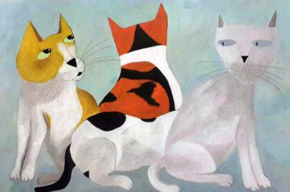 Ja - 3 Cats 2nd version- 120 x 80 - 9-6