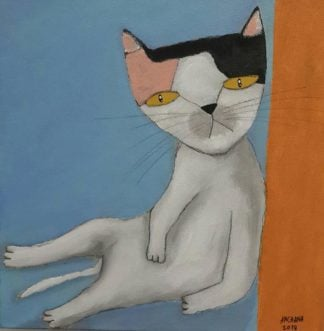 Ja - Laying Cat - 25 x 25 - 09