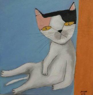 Ja - Laying Cat - 25 x 25 - 09