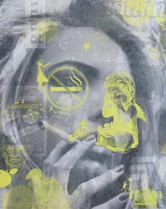 Kee - Smoking (Mustard) - 80 x 100 - 20