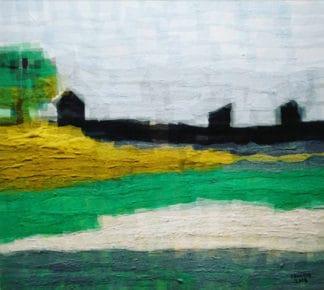 Tanarug - Collage Fabric Scenery 14 - 100 x 90 - 15
