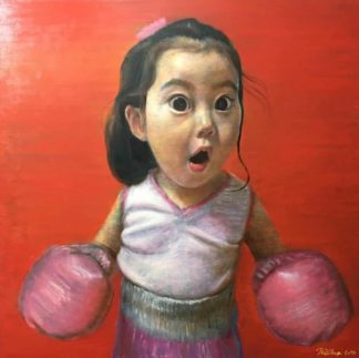 Thitithep - Boxing Girl Red 02 - 130 x 130 - 38