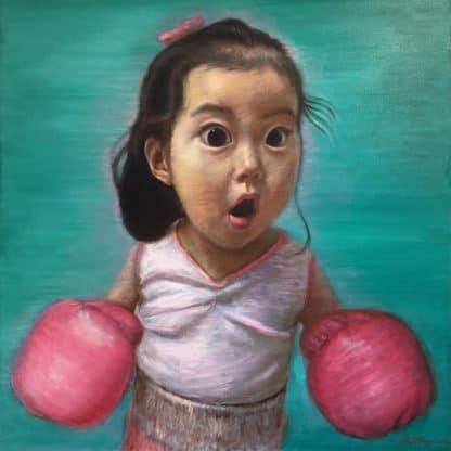 Thitithep - Boxing Girl Viridian 02 - 130 x 130 - 38