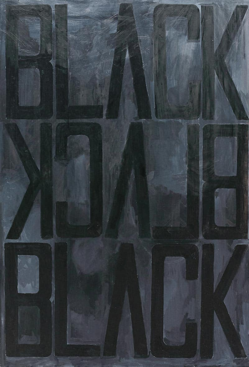 Ugo Li - Black Black - 110 x 160 - 50