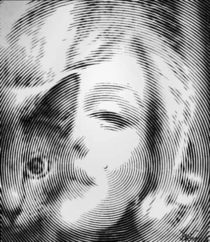 Anuchit - marilyn monroe with a cat 02- 150 x 170 - 35