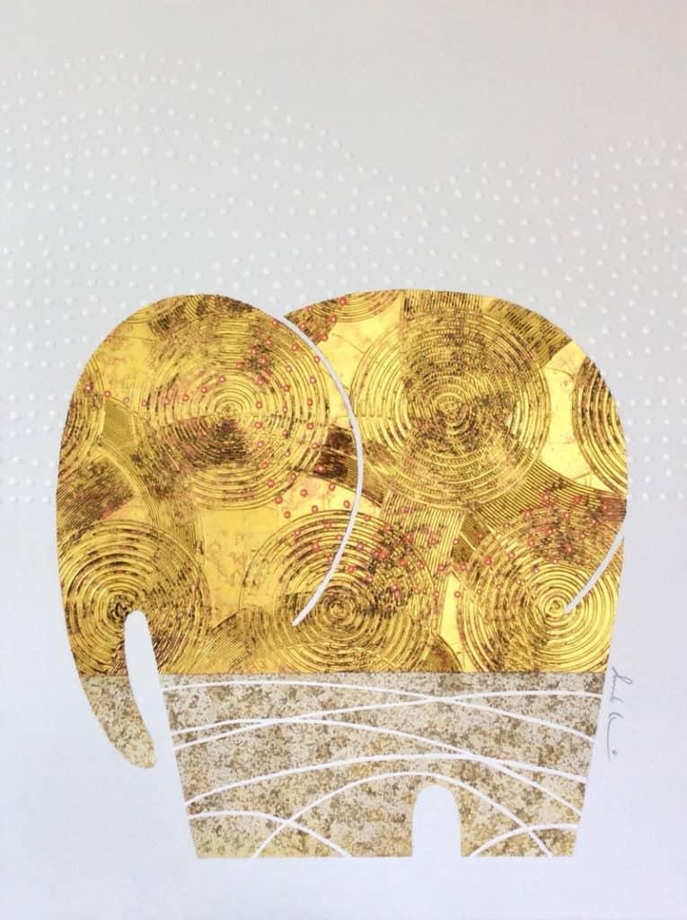 Bui - Gold Elephant 28 - 90 x 120 - 18