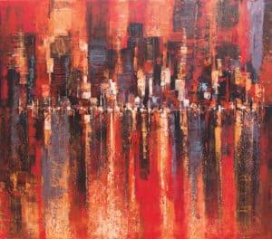 Gittisak - Cherry Berry Blossom Town - 80 x 70 - 8