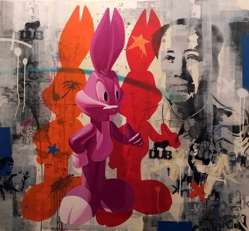 SOS - Bugs Bunny and Mao Zedong - 150 x 140 - 50