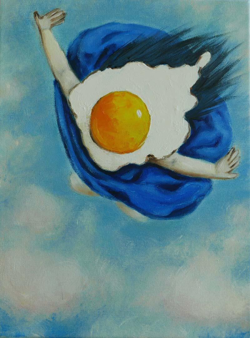 Ta - Egg girl flying - 150 x 150 - 42