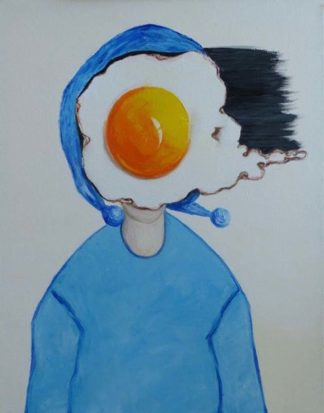 Ta - Egg girl in blue scarf - 40 x 50 - 11